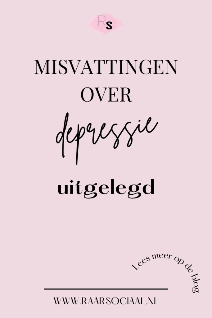 ik ben niet verdrietig ik ben depressief