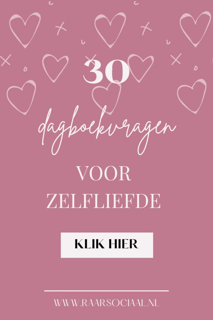 30 dagboekvragen voor meer zelfliefde