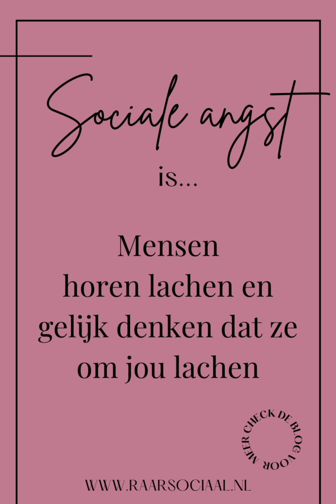 sociale angst is